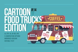 Cartoon Food Truck - Coffee