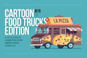 Cartoon Food Truck - Pizza