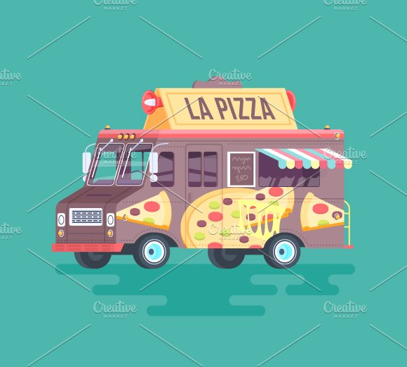 Cartoon Food Truck