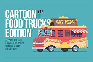 Cartoon Food Truck - Hot Dog