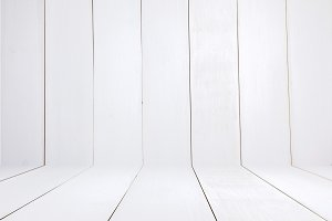 White room wooden texture illustration - realistic 3D