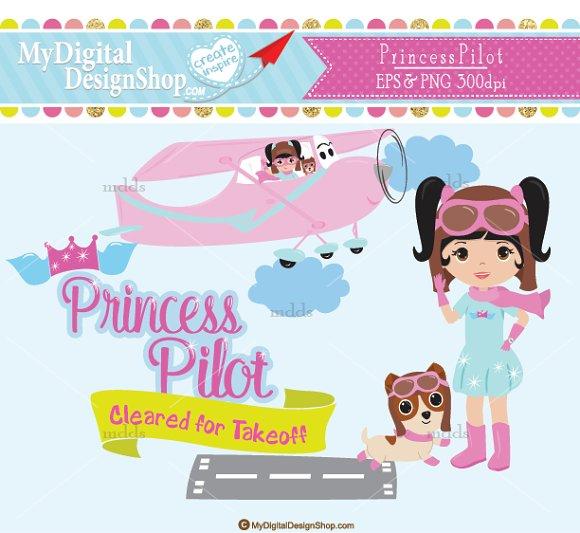 Princess Pilot Clip Art |C029