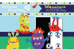 Monsters, Creatures Clip Art |C072