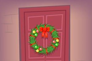 New Year Door