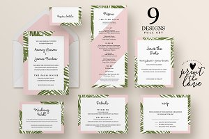 Wedding Invitation Suite - Tropico