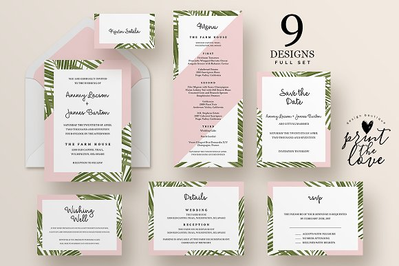 Wedding Invitation Suite Tropico Invitations