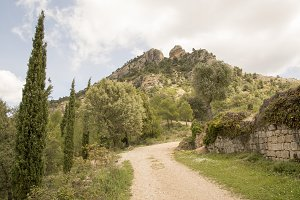 Road to the convent of San Salvador