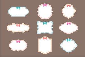 9 Label Clip Art
