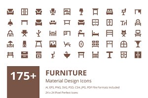 175+ Furniture Material Design Icons