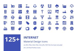 125+ Internet Material Design Icons