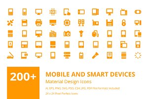 200+ Mobile and Smart Devices Icons