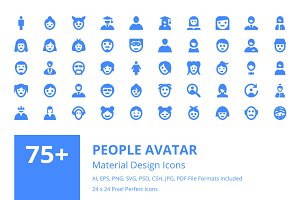 75+ People Avatar Material Icons