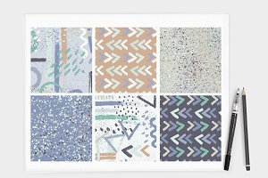Brush Mark Seamless Pattern Set