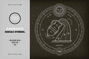 ♒ Aquarius Zodiac Symbol