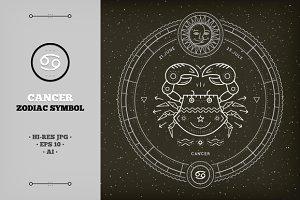 ♋ Cancer Zodiac Symbol