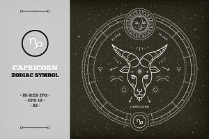♑ Capricorn Zodiac Symbol