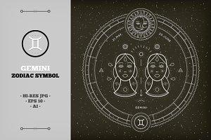 ♊ Gemini Zodiac Symbol