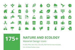 175+ Nature and Ecology Vector Icons