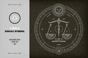 ♎ Libra Zodiac Symbol