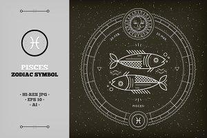 ♓ Pisces Zodiac Symbol