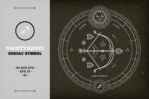 ♐ Sagittarius Zodiac Symbol