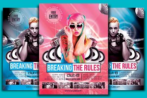 Breaking The Rules Flyer Template