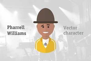 Pharrell Williams Vector Character