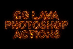 CG Lava Generator Photoshop Actions