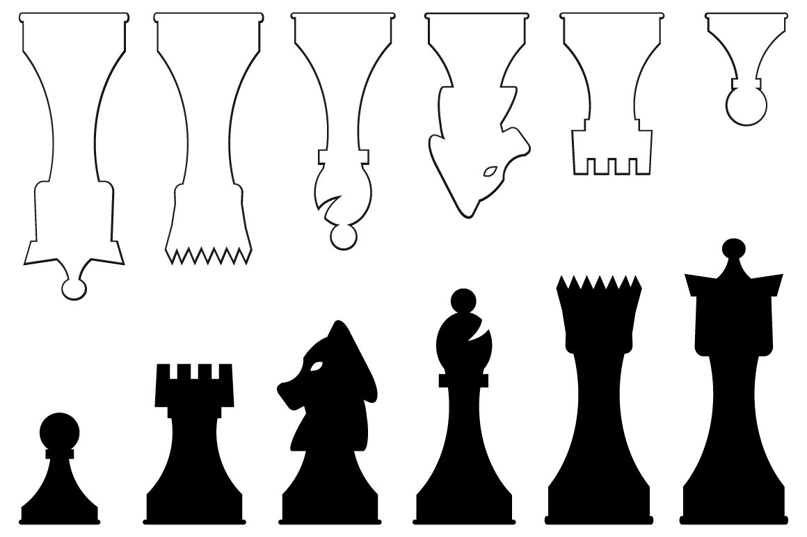 Vector Chess Pieces ~ Graphic Objects ~ Creative Market