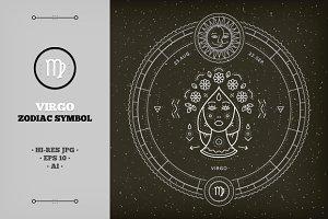 ♍ Virgo Zodiac Symbol