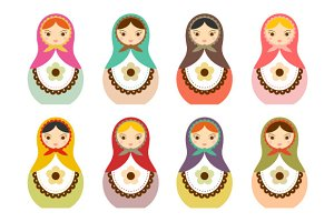 Matryoshka Russian Doll Clip Art