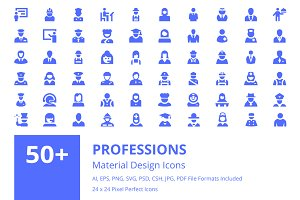 60+ Professions Material Icons