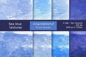 Sea blue textures