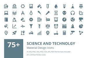 Science & Technology Material Icons