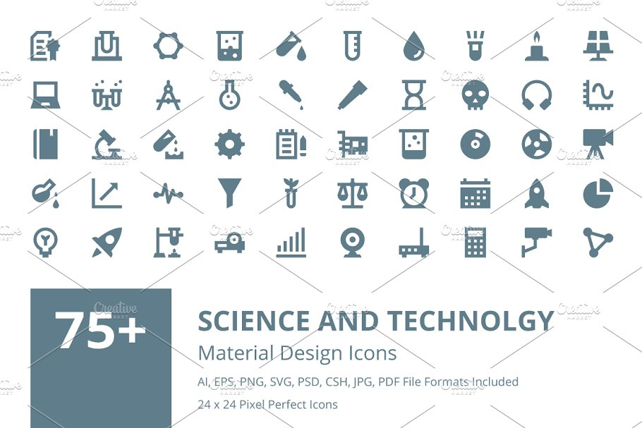 125+ Flat Data Science Vector Icons ~ Icons ~ Creative Market