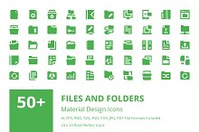 50+ Files and Folders Material Icons