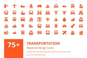 90 Transportation Material Icons