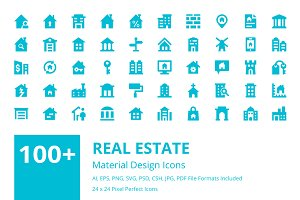 100+ Real Estate Material Icons