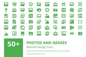 50+ Photos and Images Material Icons