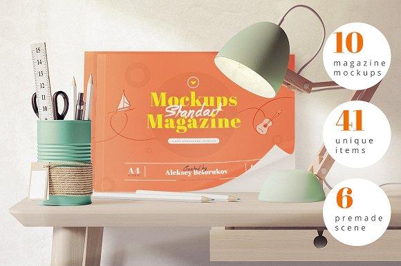 10 Magazine mockups and 41 Items
