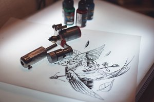 prepared for making tattoo