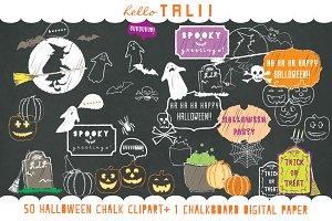 Halloween Chalkboard Clip Art