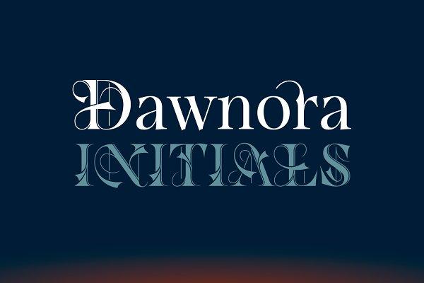 Symbol Fonts: Typomancer  - Dawnora Initials