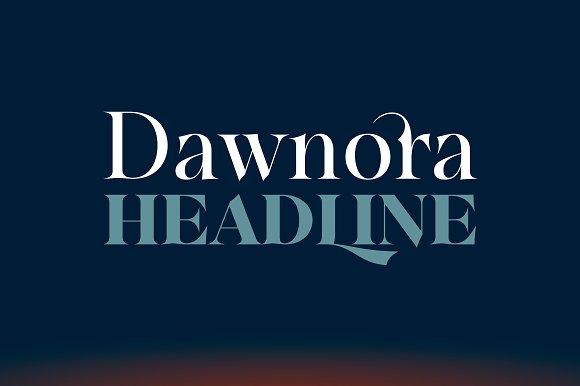 Dawnora Headline - Fonts