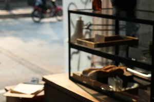 Blurred Interior of Coffee Shop