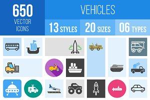 650 Vehicles Icons
