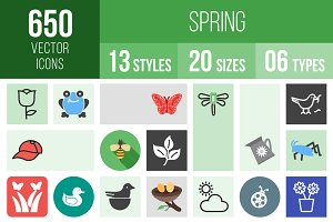 650 Spring Icons