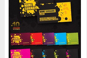 10+ color business card