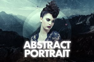 Abstract Portrait Photoshop Action