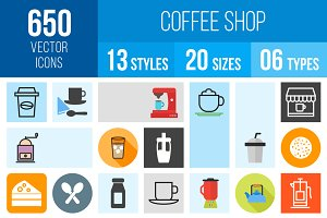 650 Coffee Shop Icons